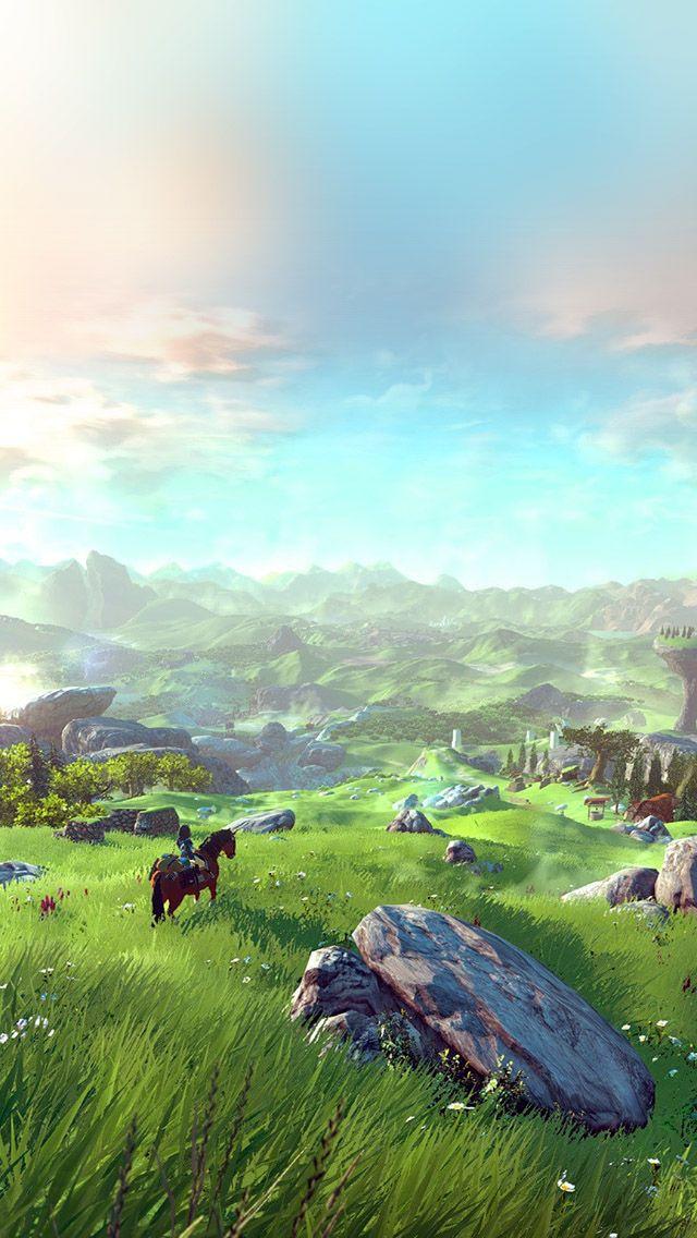 Legend Of Zelda Field Green Iphone 5s Wallpaper Legend Of Zelda Breath Legend Of Zelda Fantasy Landscape