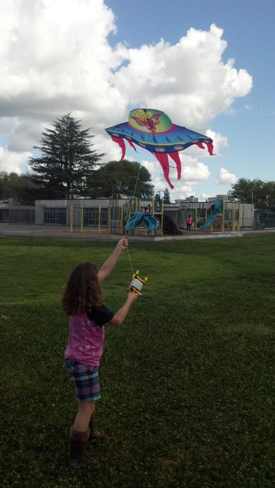 Kite flying with the girls on my day off. Better way to spend the day than sitting at home.