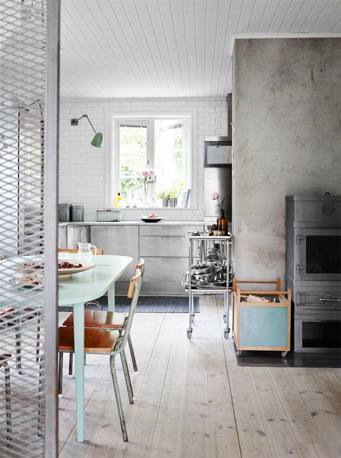 Decoracion De Casas Renovacion En Estilo Nordico Industrial Diseno De Cocina Moderna Cocinas De Casa Diseno De Cocina
