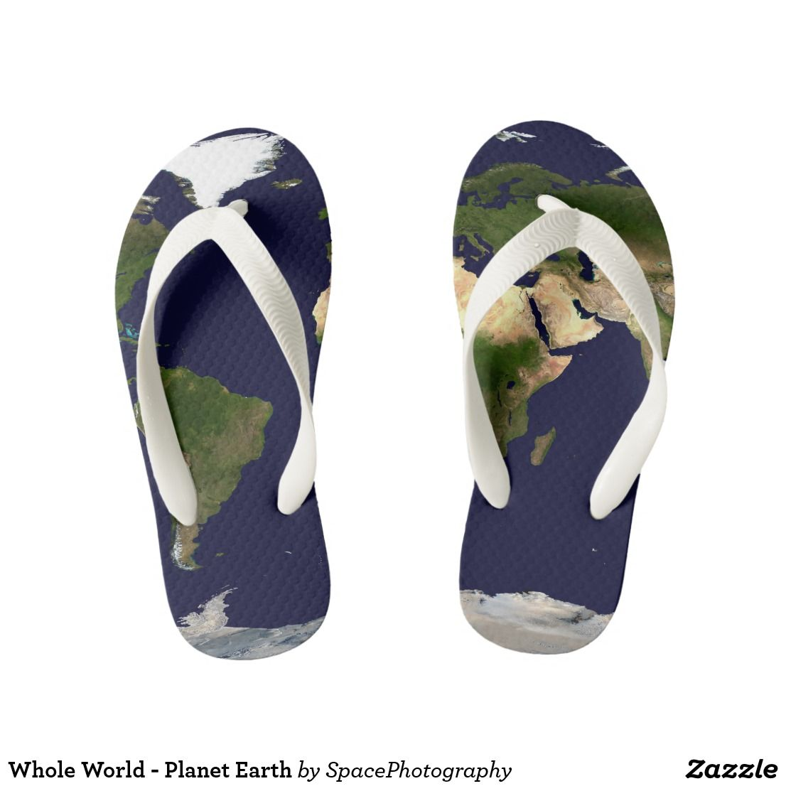 c0a76f641 Whole World - Planet Earth Kid s Flip Flops