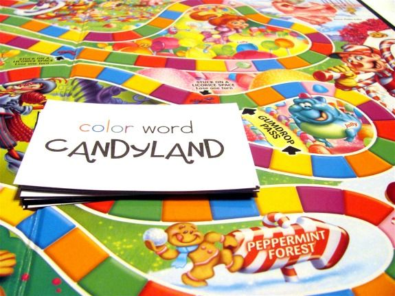 Learning Color Words with CandyLand | Learning colors, Word work and ...