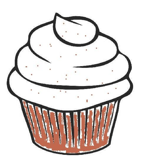 Easy cupcake drawing