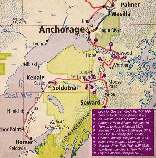 Scenic drive: Anchorage to Soldotna Alaska on the Kenai Peninsula