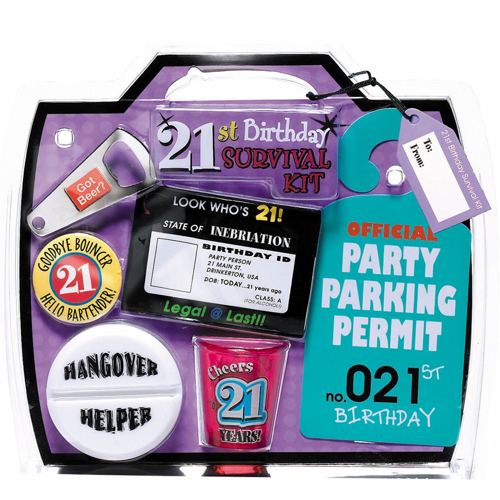 21st Birthday Survival Kit 21st birthday Pinterest Birthday