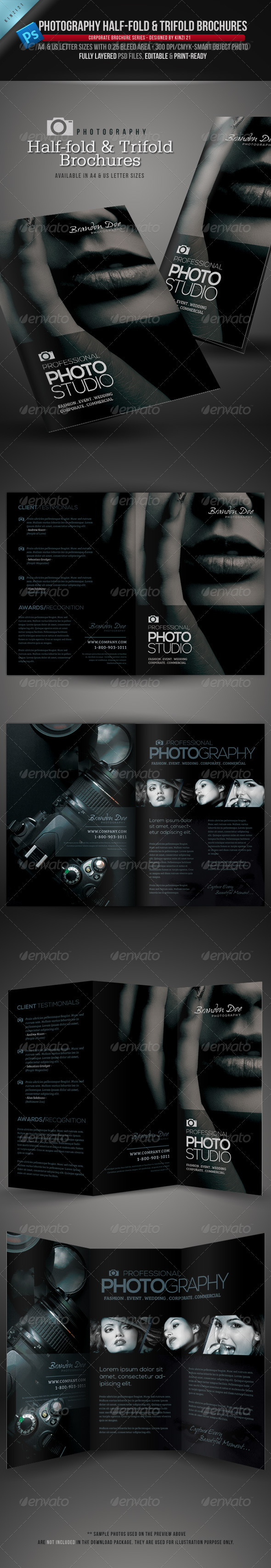 Photography HalfFold And Trifold Brochures  Brochures