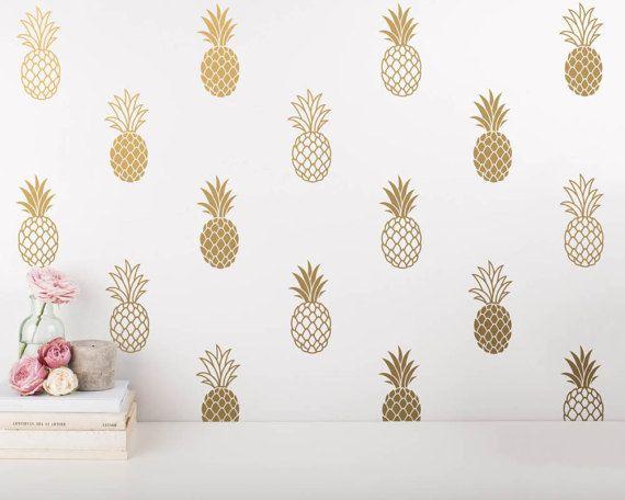 Pineapple Wall Decals Pineapple Decals Pineapple Decor