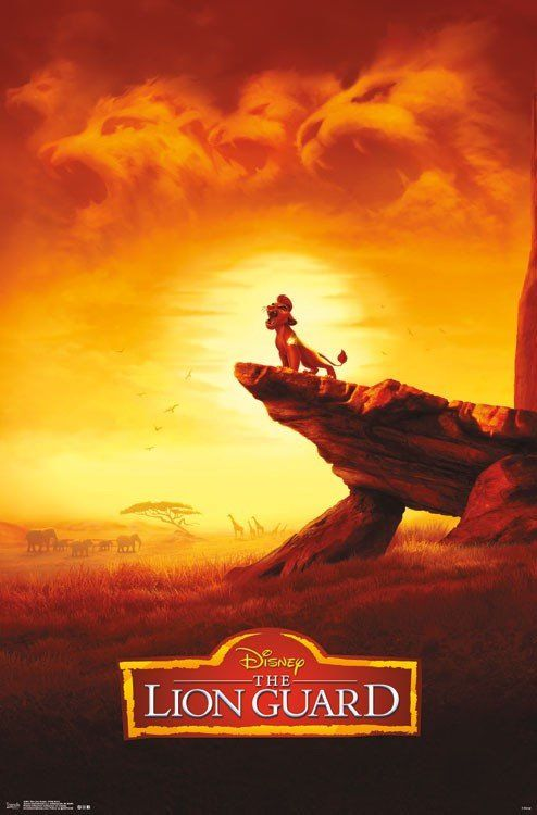 Wall Poster Lion Guard Kion Pride Rock Party Themes In