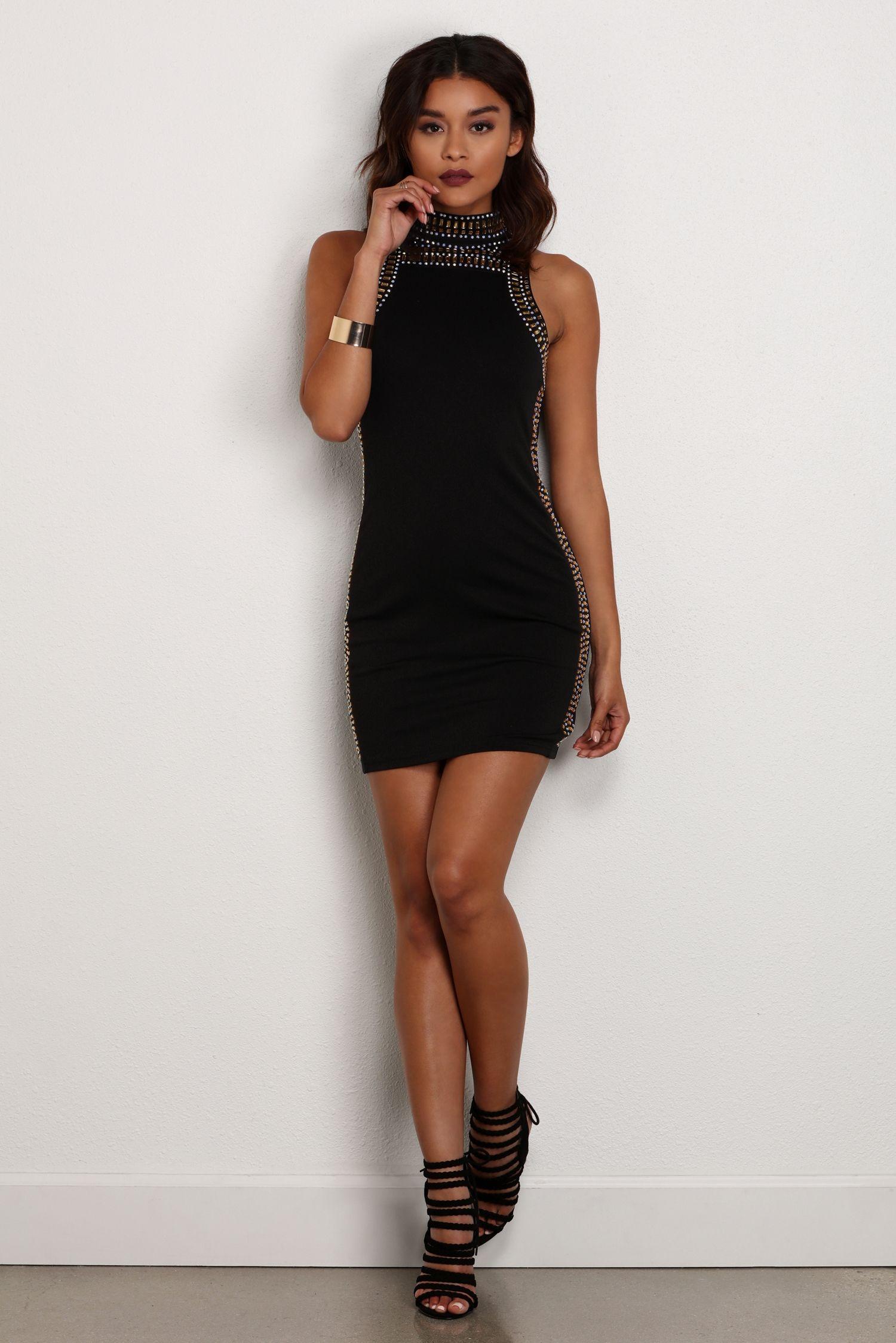 Final Sale Black Hour Glass Mini Dress Mini Dresses Final Sale