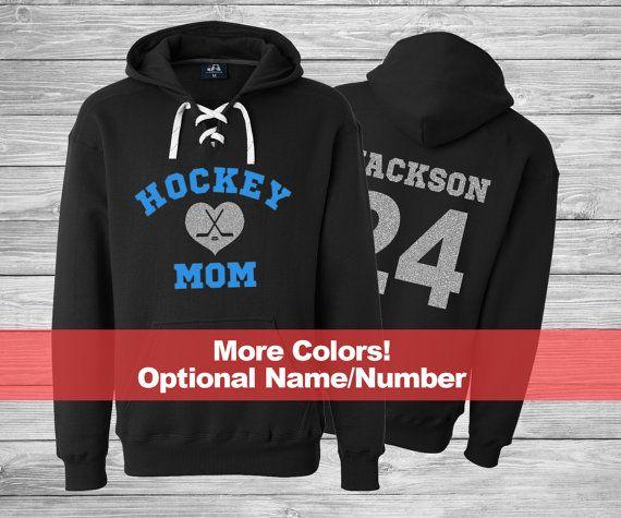 Hockey Mom Hoodie Hockey Mom Lace Up Hoodies Glitter Hockey Hoodie Hockey Mom Glitter Shirt Hockey Mom Sweatshirt Mom Hoodies Hockey Mom Clothes Hockey Mom