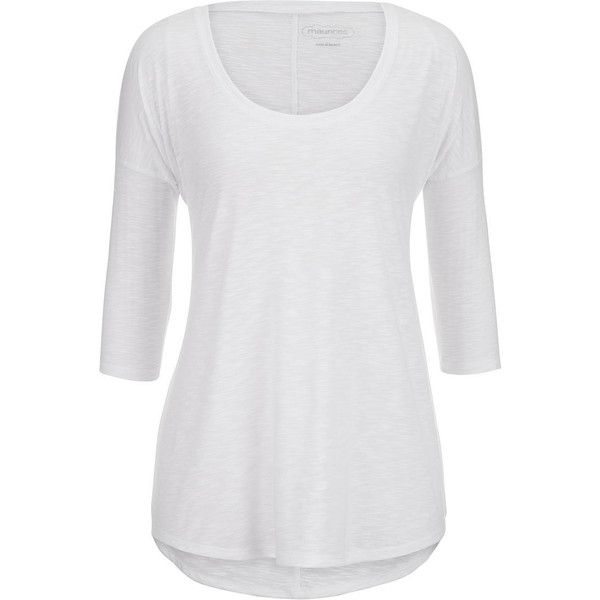 maurices Lightweight Drop Shoulder Tunic Top (72 BRL) ❤ liked on Polyvore featuring tops, tunics, long sleeves, white, womens plus tops, white top, womens plus size tunics, plus size 3/4 sleeve tops and plus size tops