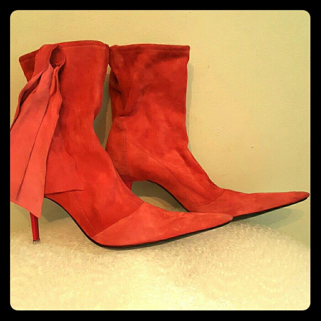 Les Tropeziennes Pink Suede Size 8 Boots