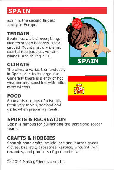 facts about spain spain thinking day facts about spain girl scout activities learning spanish. Black Bedroom Furniture Sets. Home Design Ideas