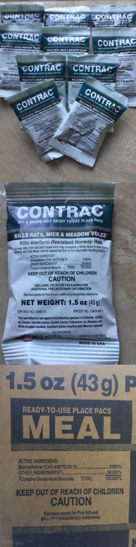 Contrac Rat Bait Mouse bait 25 Place Packets of 25 Gram Pellets Mouse Killer