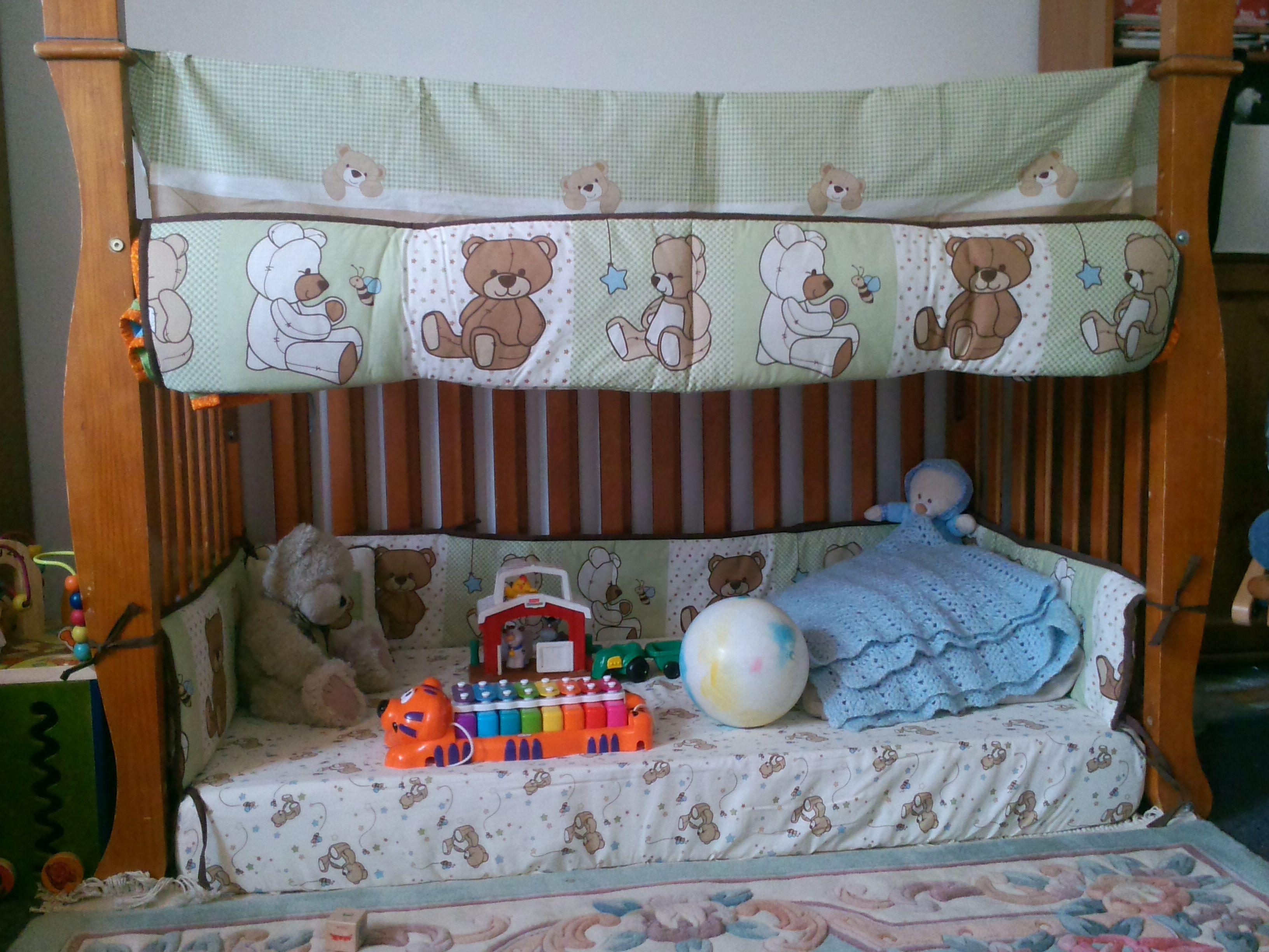 Repurposed Crib Into Toddler Play Tent Crib Inverted And Bed