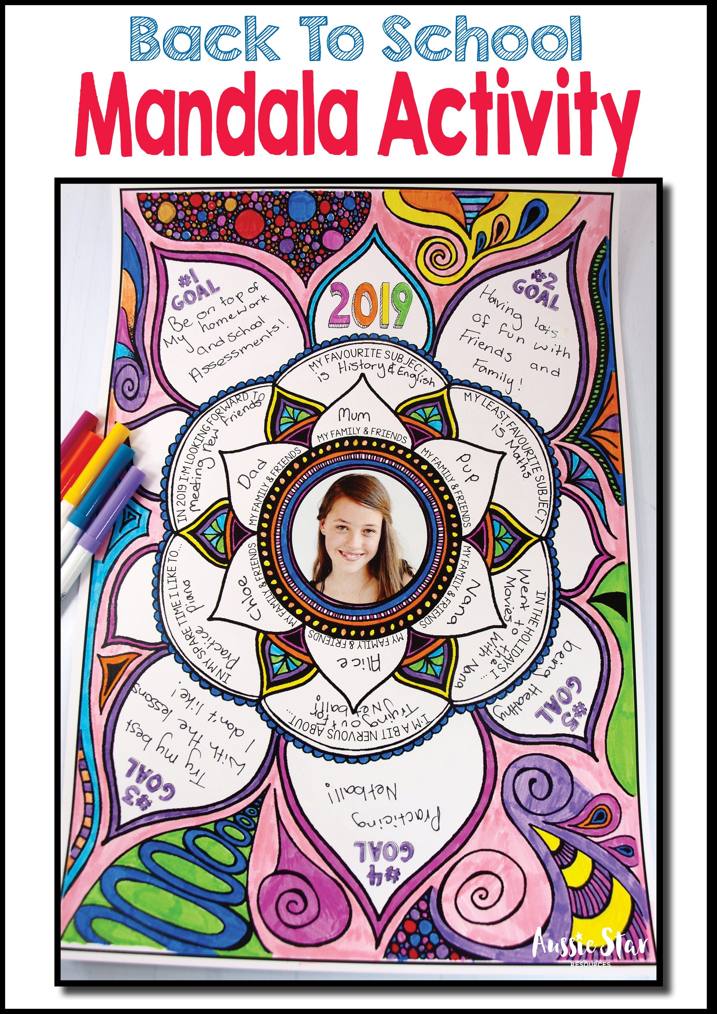 Back To School Activity All About Me Mandala 2020 Back To