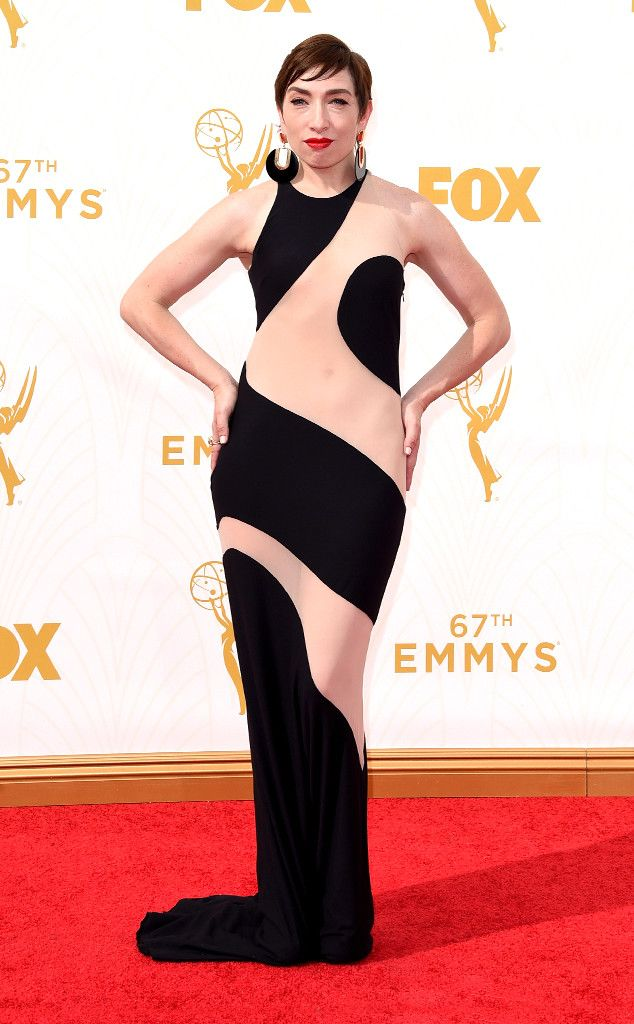 Naomi Grossman from Worst Dressed at the 2015 Emmys  Can the naked dress trend just go away now? Please.