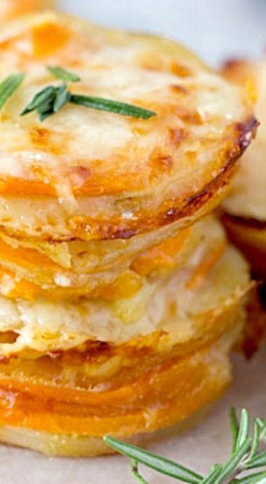 how to make baked potato scallops