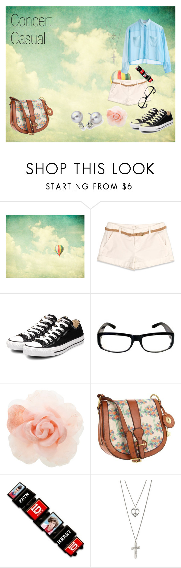 """Concert Casual"" by morganstrawberryfields ❤ liked on Polyvore featuring Joie, Converse, Warehouse, FOSSIL, Dorothy Perkins and Blue Nile"