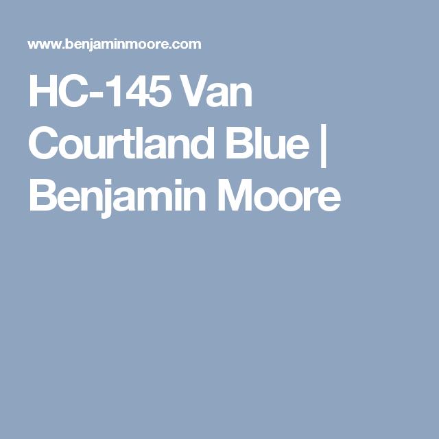 Hc 145 Van Courtland Blue Benjamin Moore