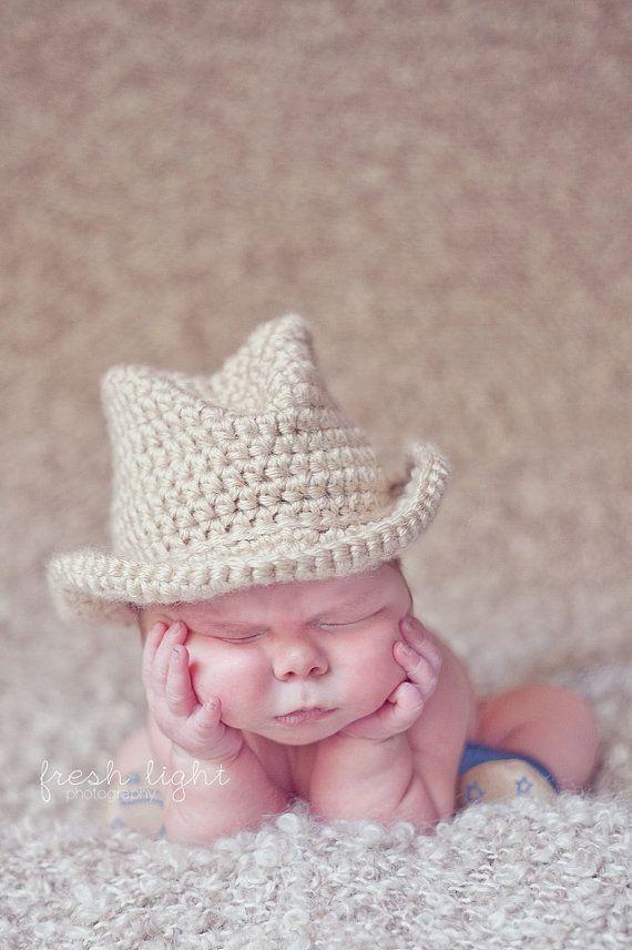 Crochet baby cowboy hat | Timoteo | Pinterest | Timoteo