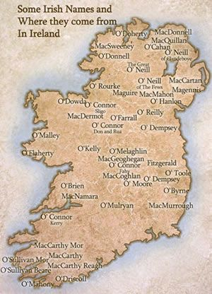 Irish Names Map