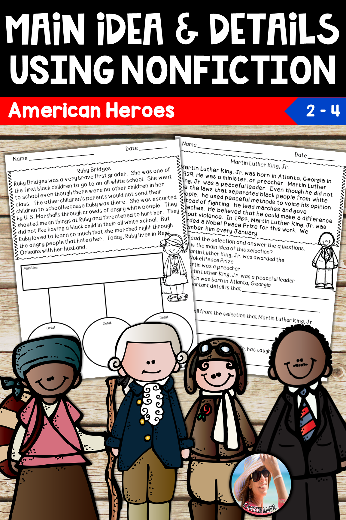 Main Idea And Details Using Nonfiction Text American