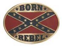 Bronze Oval Rebel Flag - AW508