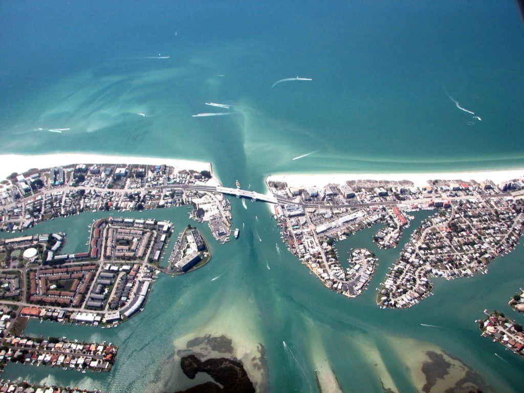 Florida Beaches Areal View