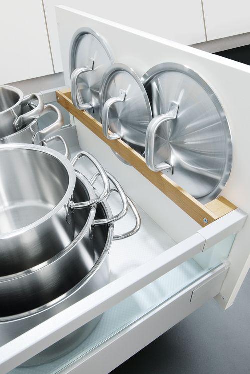 Damit jeder Topf seinen Deckel immer griffbereit hat Der - schubladen für küchenschränke