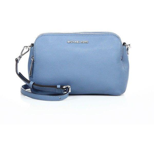 bab15fb4e240 MICHAEL MICHAEL KORS Bedford Medium Double-Zip Leather Messenger Bag ($240)  ❤ liked