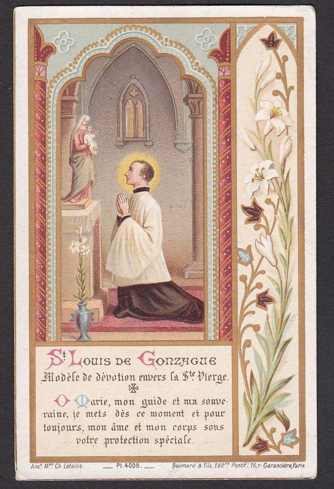 Details About Saint Aloysius Prayer To St Aloysius