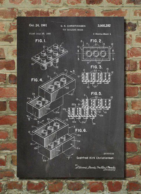 Lego Patent Print | pipe | Pinterest