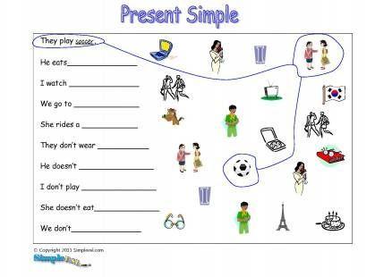 Esl Worksheets Present Simple   Homeshealth.info