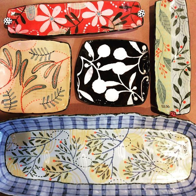 Plates heading for #plazaartfair #ceramics #studiopottery #plates #pottery…