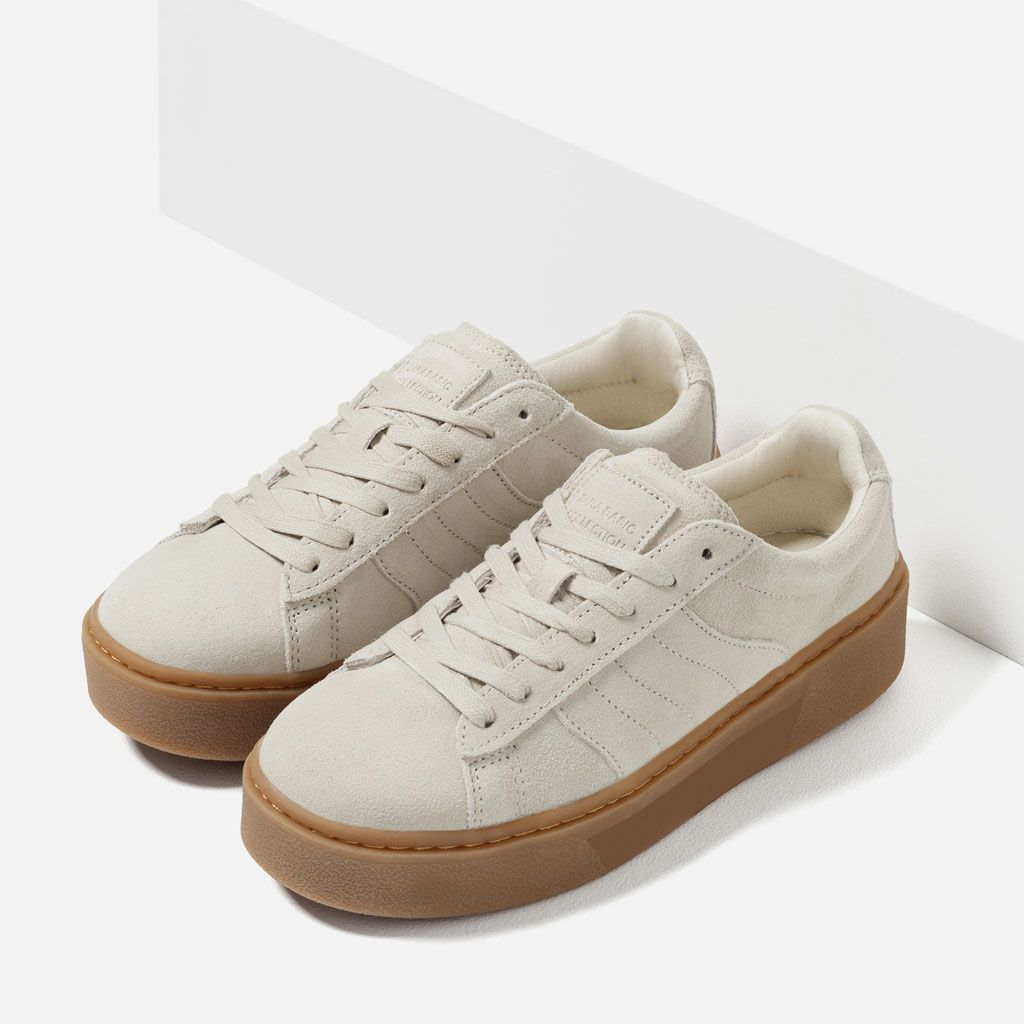 CHUNKY SOLE LEATHER SNEAKERS-View all-SHOES-WOMAN | ZARA United States