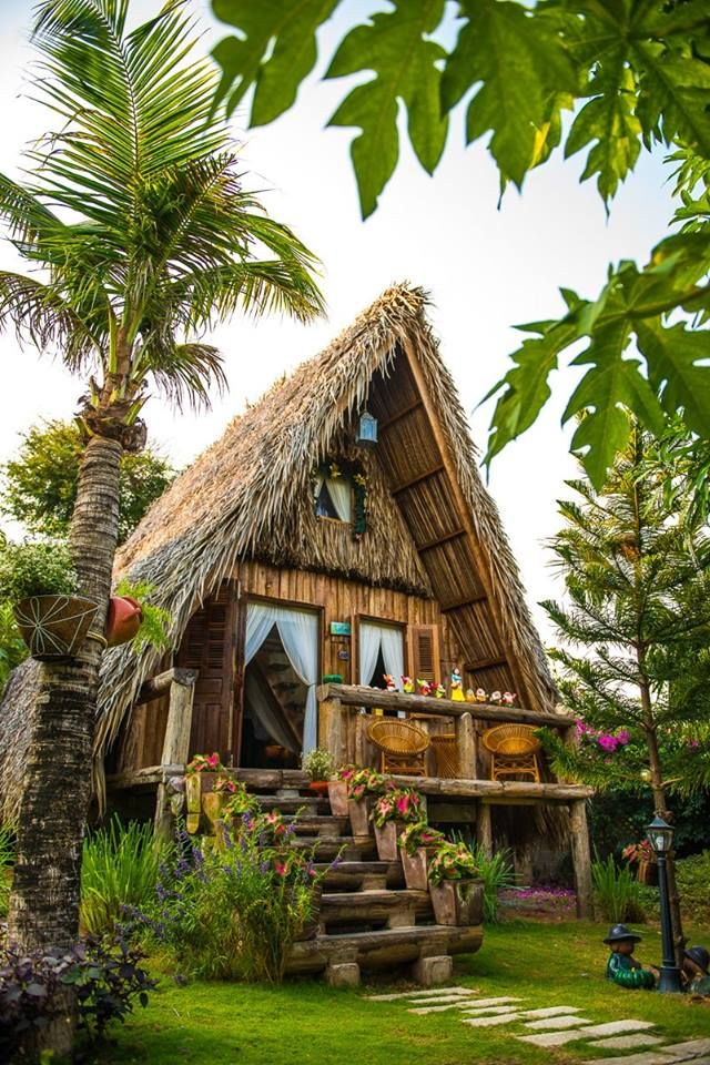 Cabana villa small cottage homes bamboo house beach bungalows tropical houses also difference between the traditional and modern bahay kubo balay rh pinterest