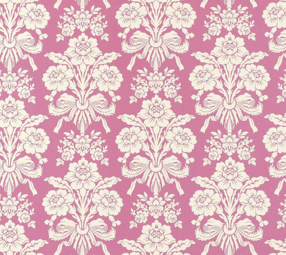 かわいいピンクの花柄 Android壁紙 花柄 イラスト 壁紙 アンティーク壁紙