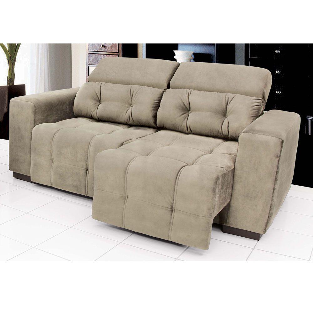 Conjunto sof 2 e 3 lugares linoforte duomo tecido em for Sofa 7 lugares retratil e reclinavel firenze