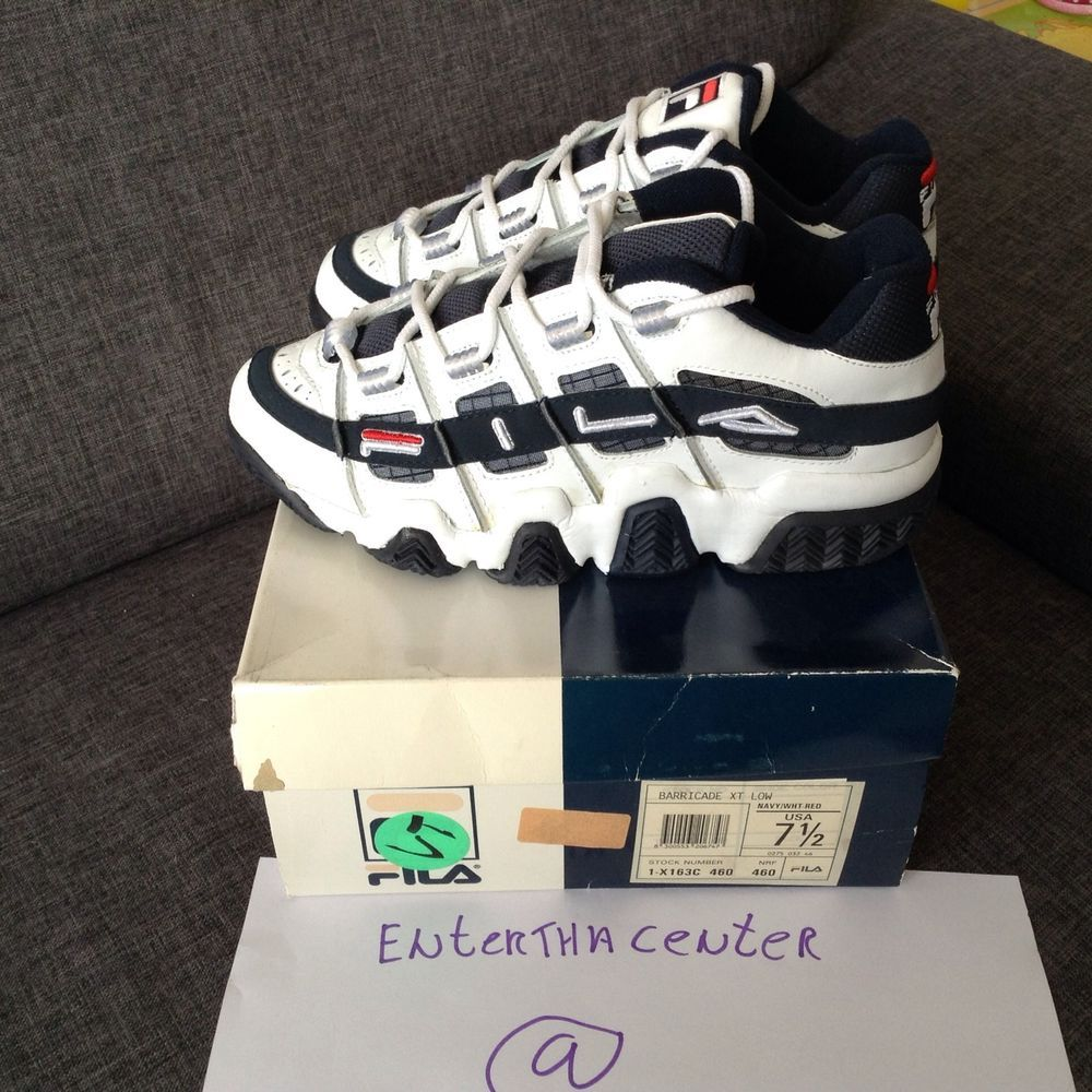 6d7bffa84b3c OG Fila Barricade XT Low Vintage Deadstock Grant hill Basketball high tops  in Clothing, Shoes   Accessories, Men s Shoes, Athletic   eBay
