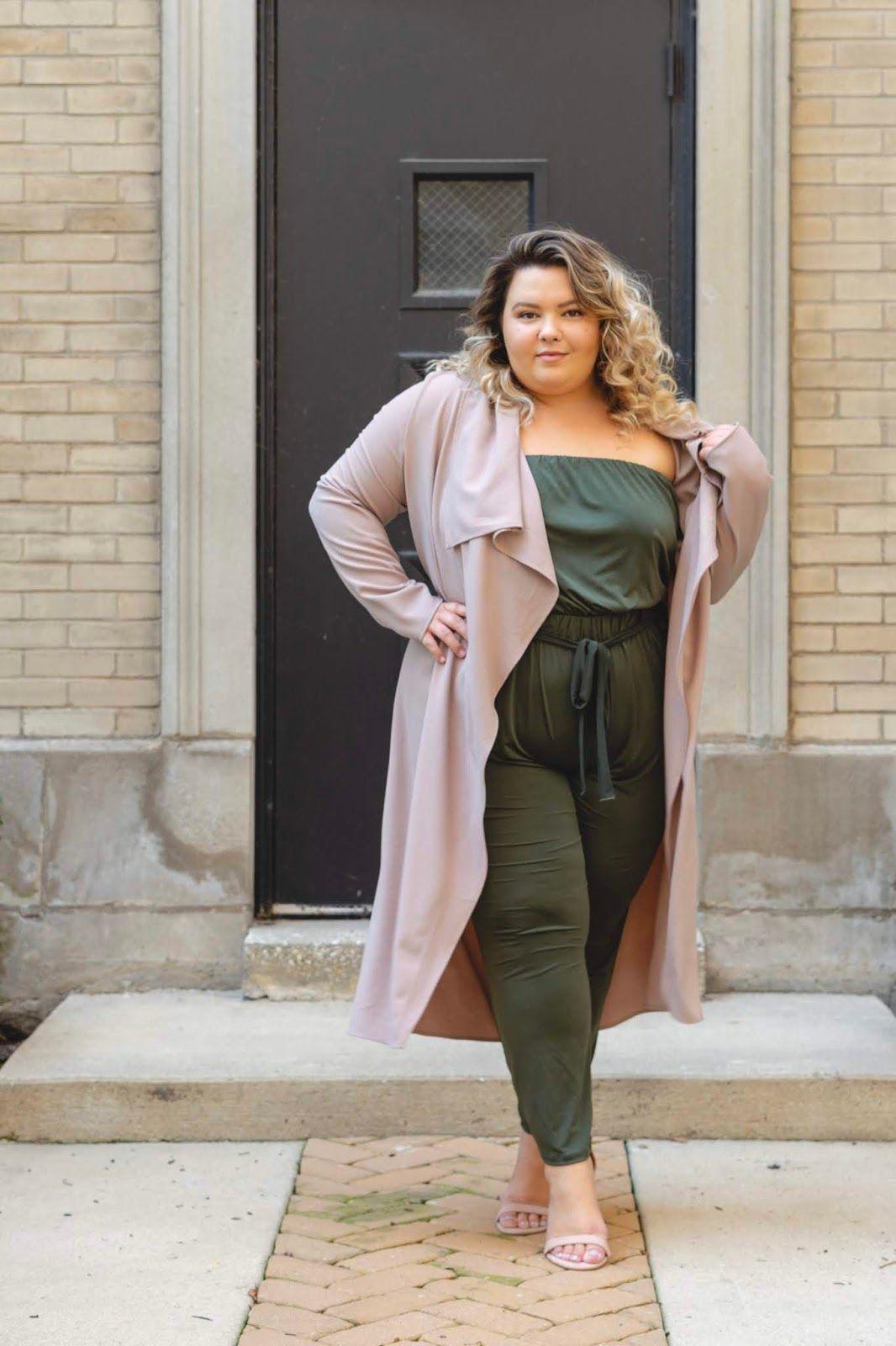 Chicago Plus Size Petite Fashion Blogger And Model Natalie Craig In Fashion Nova Curves Taupe Trench Co Petite Fashion Plus Size Fashion Blog Plus Size Fashion