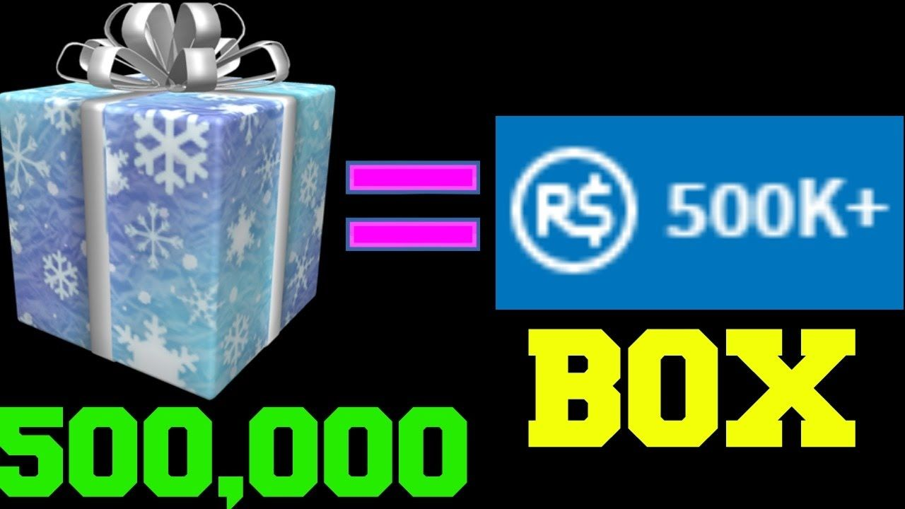 SECRET BOX IN ROBLOX GIVES 500,000 ROBUX!