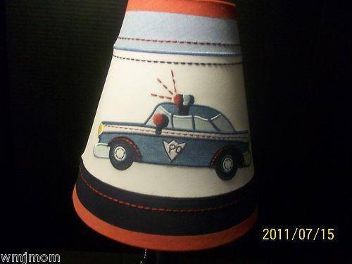 Pottery Barn Kids Police Lamp Shade Car Siren Lampshade