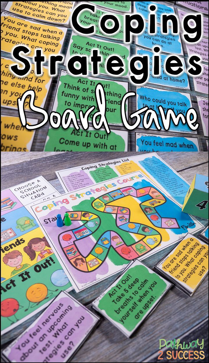 Coping Strategies Board Game Coping skills activities