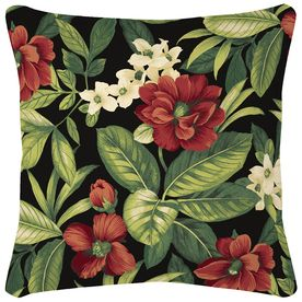 d9a36da6484 Garden Treasures Sanibel Black Tropical Square Throw Outdoor Decorative  Pillow Af09547b. Garden Treasures 2-Pack Neutral Stencil And Paisley ...
