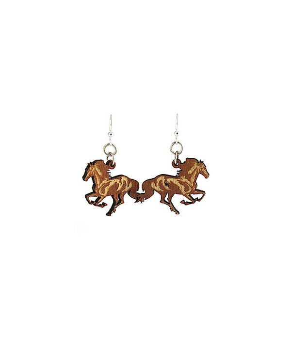 Look at this Brown Horse Drop Earrings on #zulily today!