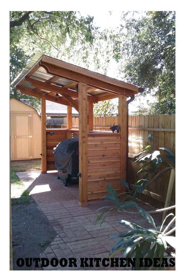 Construire Abris Bois outdoor kitchen | pergola dans le jardin, abris barbecue