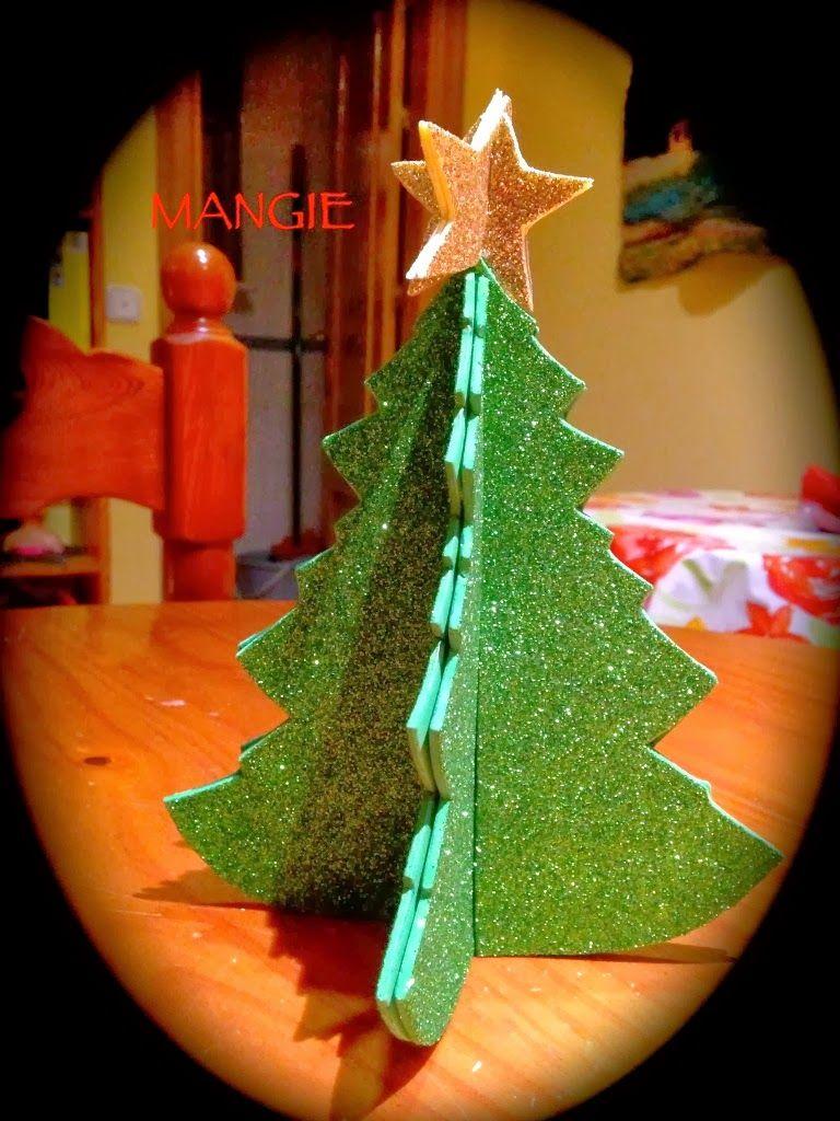 Rbol 3d purpurina gomaeva navidad letrero de feliz - Arboles de navidad manualidades navidenas ...