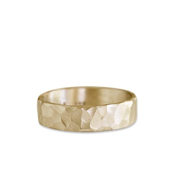 14k rustic carved band 6mm