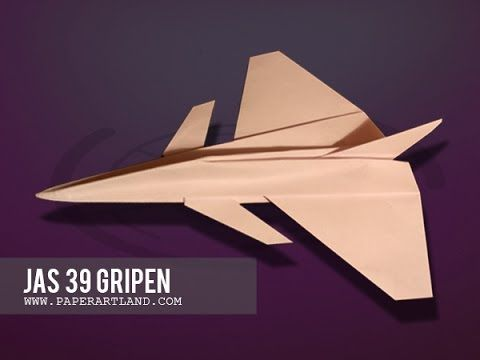 How To Make A Paper Airplane That Flies Jas 39 Gripen Tri Dang Make A Paper Airplane Paper Airplanes Origami Plane