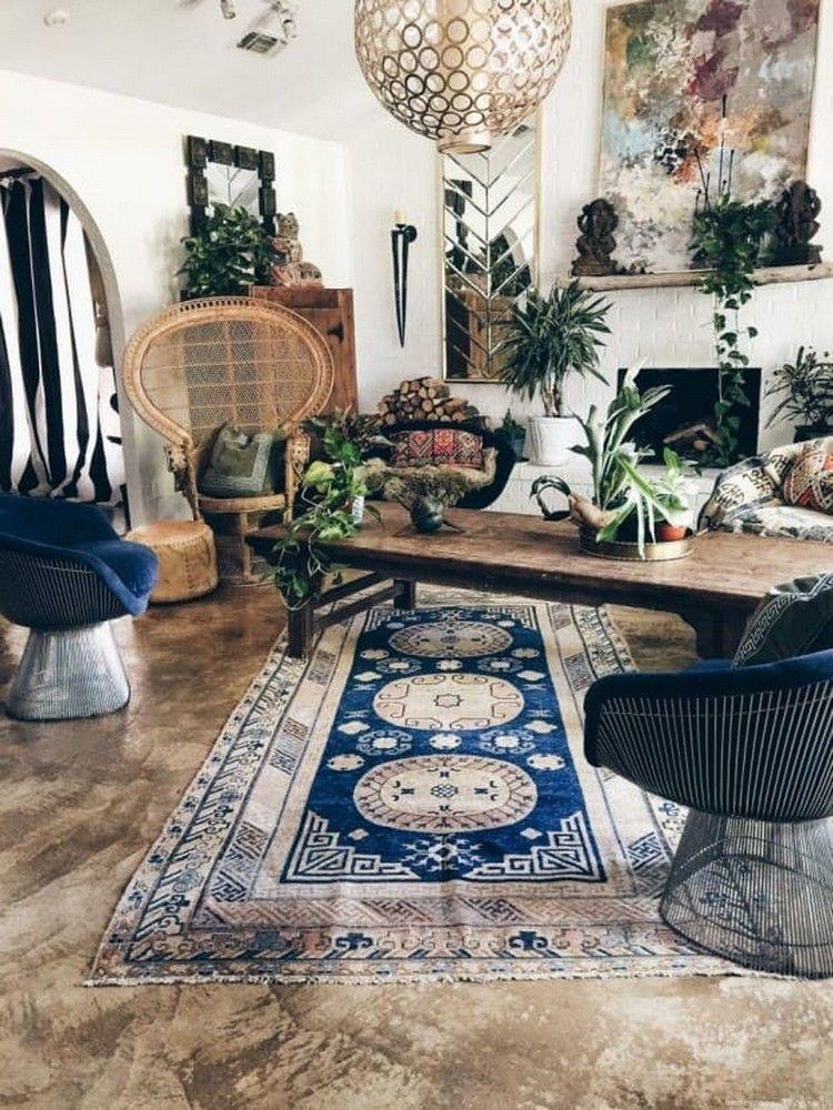 Modern Rustic Bohemian Living Room Design Ideas 11 Aladdinslamp Net Home Design Decor Home Decor Accessories Bohemian Living Room